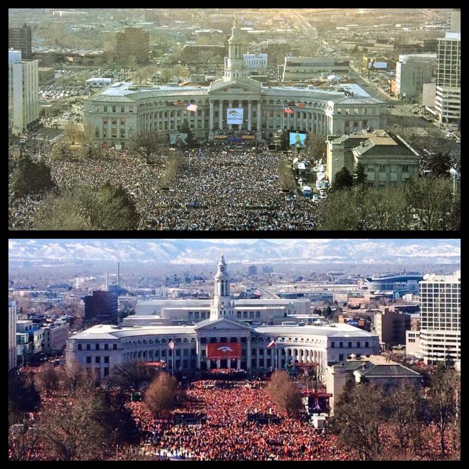 1998 on the top... 2016 on the bottom. BroncosCountry UnitedInOrange photos courtesy @sportsdenver