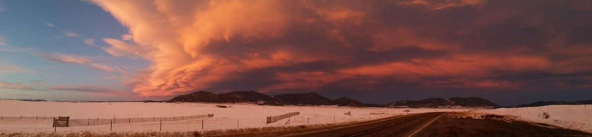 Check out this South Park sunset! From Hwy 24.