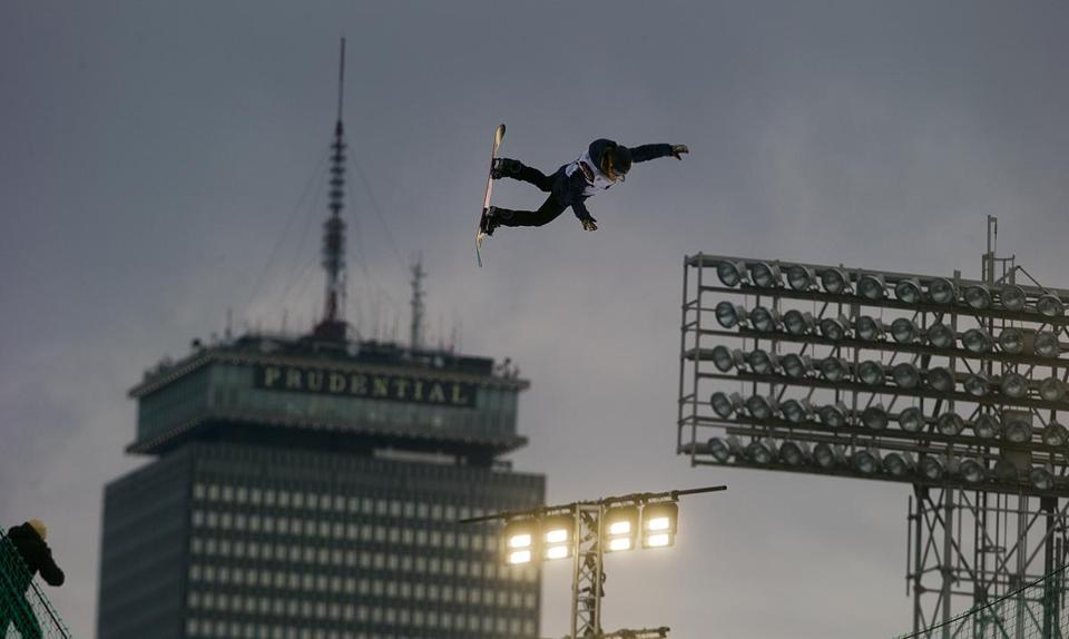 Wednesday was practice day for Big Air at Fenway Park