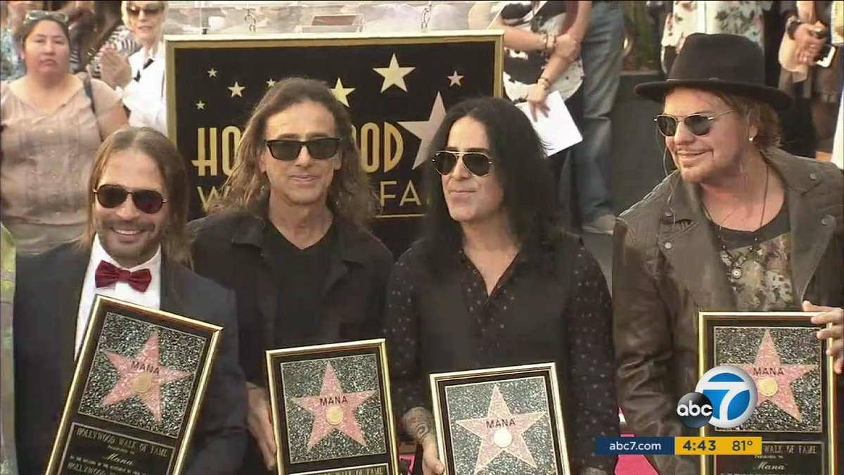 Mexican rock band Mana gets Hollywood Walk of Fame star