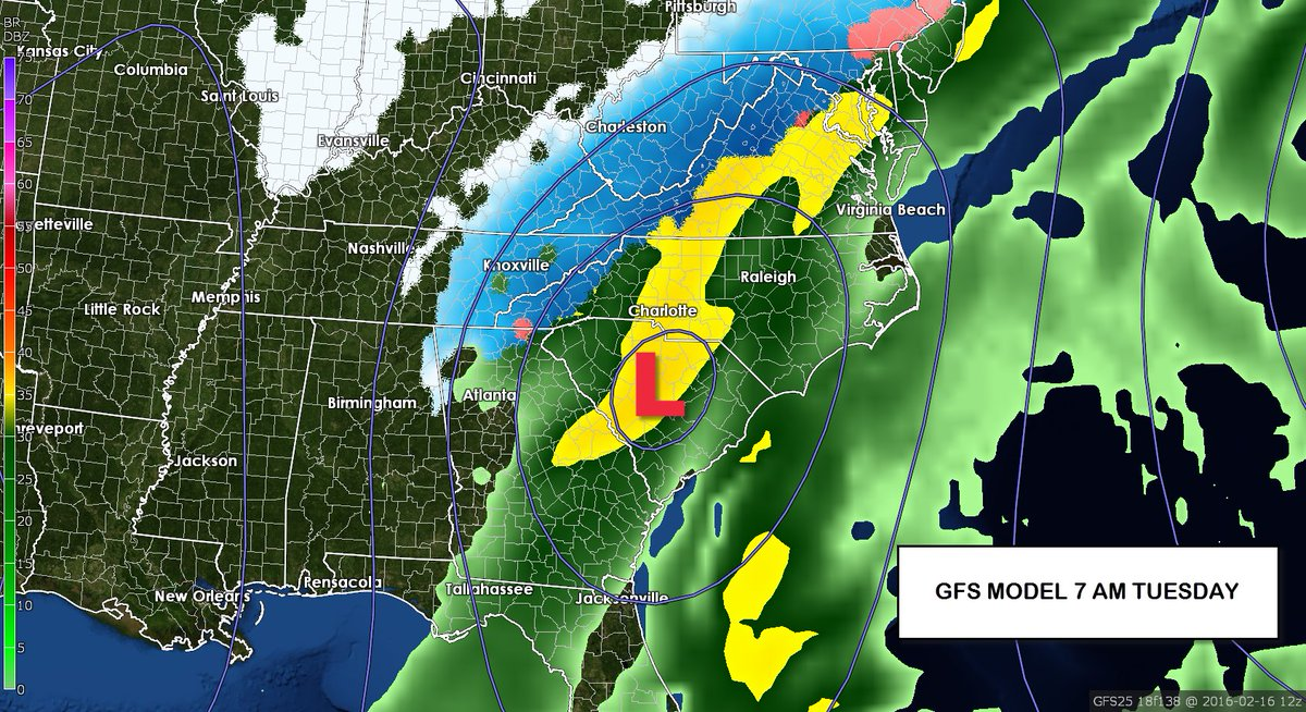 Early thoughts on the Winter Storm Potential for Monday-Tuesday - @wxbrad Blog