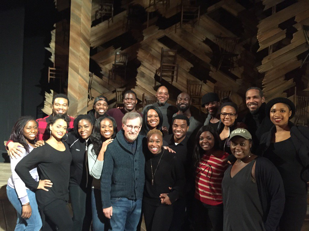 Steven Spielberg saw @BwayColorPurple for the first time tonite and loooved it! https://t.co/xgavhMpaSD