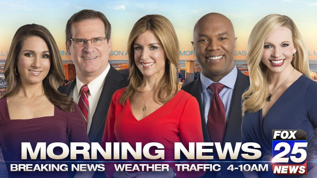 Happy Thursday! Kick off your day with FOX25 Morning News, streaming live here