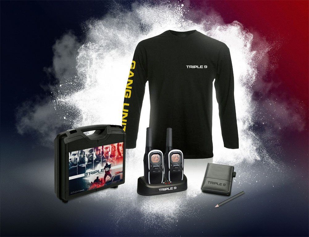 Win! Follow @CultBoxTV and RT for chance to win walkie talkies and goodies with 'Triple 9' - https://t.co/z1dVHn6NEB https://t.co/8nI1UJlihw
