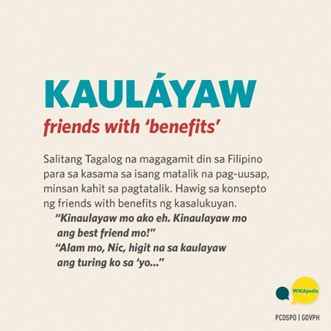 Friends with benefits meaning tagalog