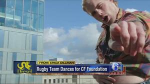 @DrexelUniv's rugby team dances for @CF_Foundation