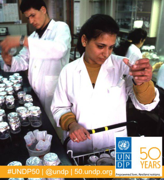 Since our birth in 1967, women have been improving #agriculture thru our dev. projects. #WomeninScienceDay #UNDP50