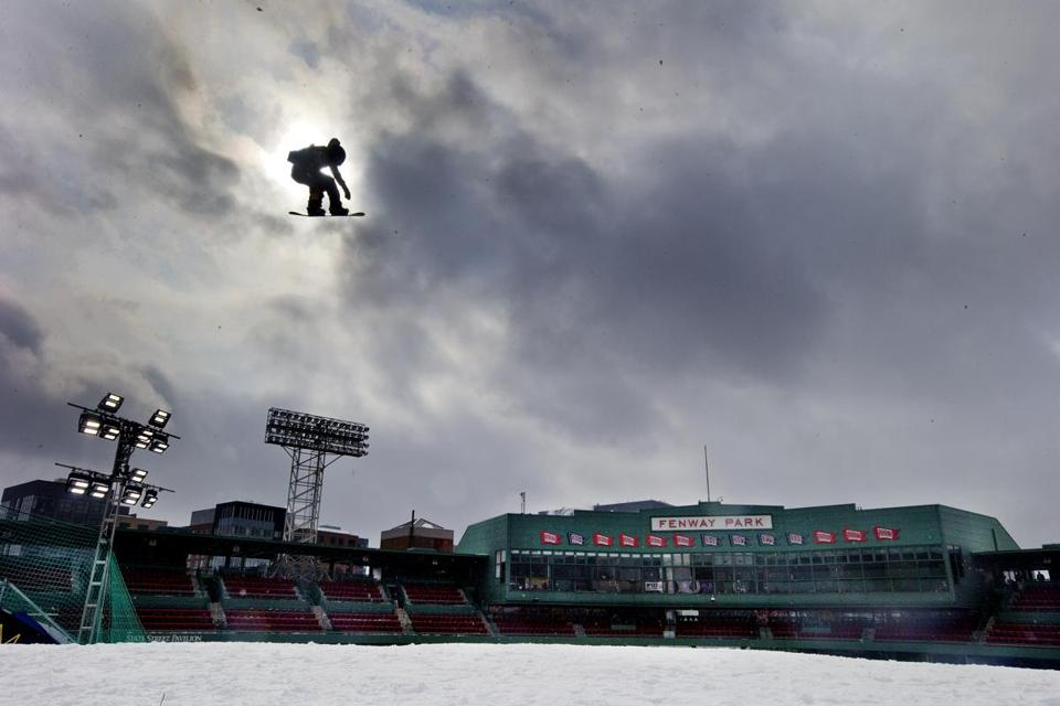 Check out photos of the Big Air ramp at Fenway Park