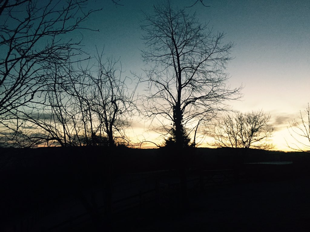 Home for the 1st time in 5 weeks to frost, sunrise, beautiful fresh Welsh air & birdsong. Heaven https://t.co/VAHY2XhcCA
