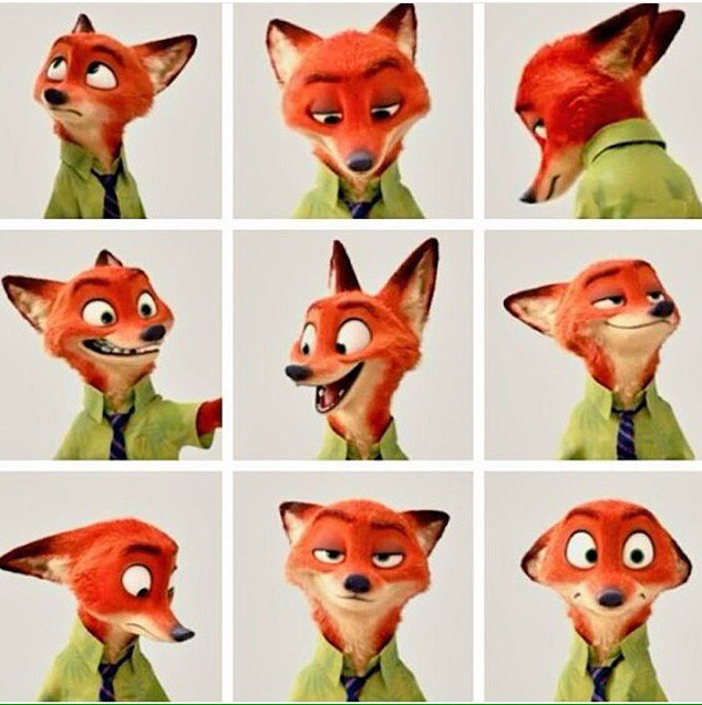 "Zootopia On Twitter: ""The Many Faces Of #NickWilde Aka"