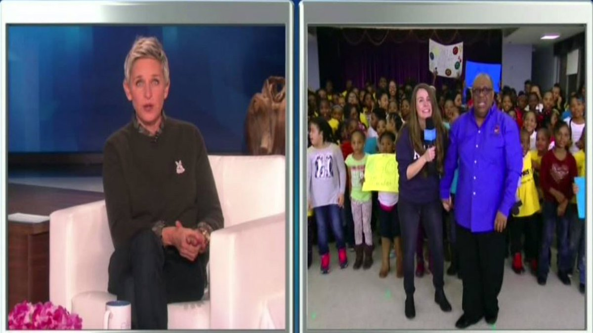 A Detroit school receives a BIG surprise from @TheEllenShow - watch it here: local4