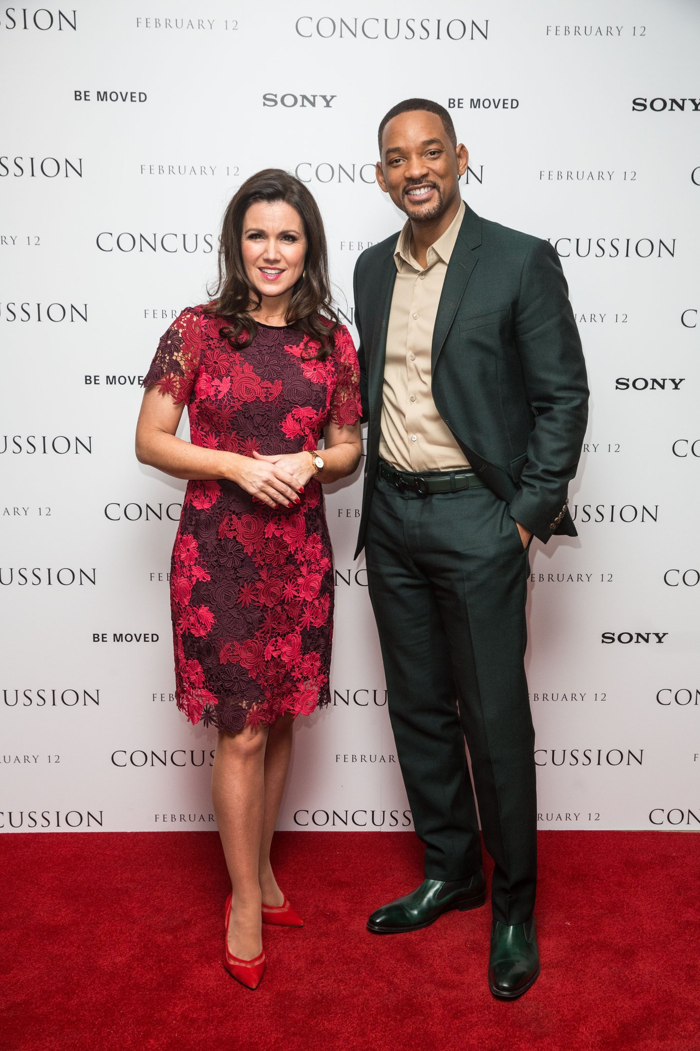 RT @SonyPicturesUK: #TBT Will Smith joined @susannareid100 for an exclusive celeb screening of #ConcussionMovie with @TelegraphFilm 🎬 https…