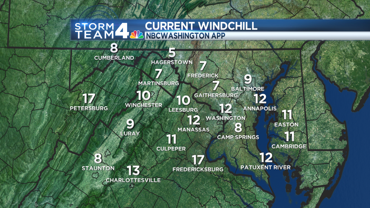 And cue the bitterly cold. Blustery winds and cold temps make for a brutal morning in the temp department.
