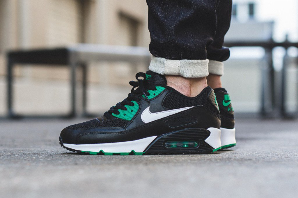 timeless design 3858f c0f25 ... order foot court on twitter nike air max 90 essential black white lucid  green t.