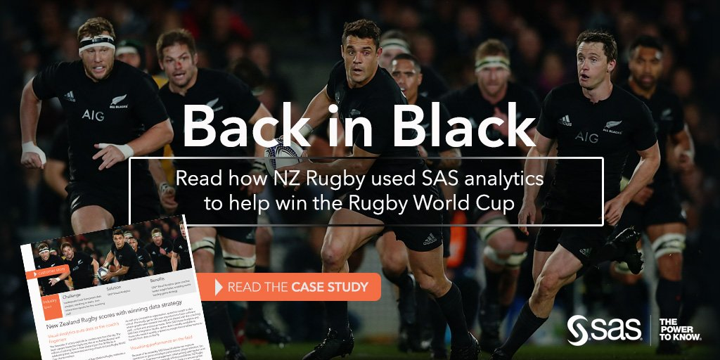 WORLD PREMIER: Read how the @AllBlacks used SAS to help win the Rugby World Cup. https://t.co/izSVymxFnT #SASabs https://t.co/2ZD6DoVFRP