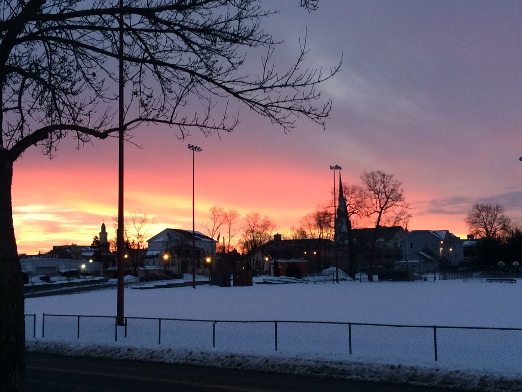 A cold but beautiful sunrise in Woburn today
