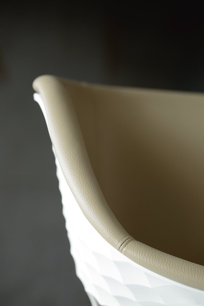 The beauty is in the detail! Take a look at this gorgeous new image of our upholstered Uni-Ka chair! #Hospitality