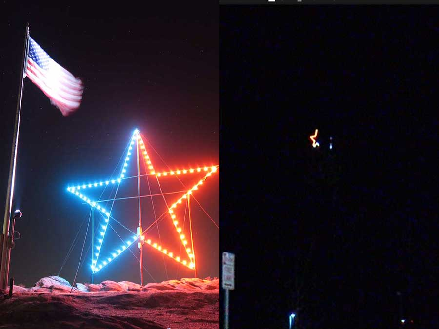 Fire Department in Castle Rock says the star was vandalized: (before & after pictures)