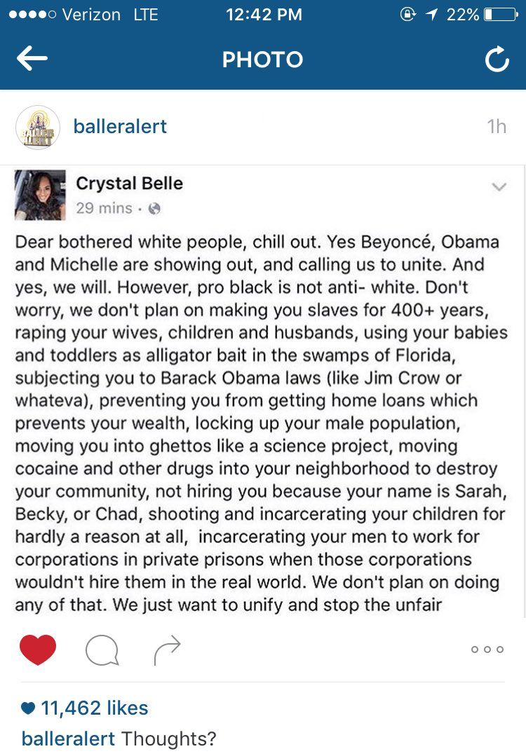THANK YOU CRYSTAL BELLE!! #DearBotheredWhitePeople #BHM #BlackLivesMatter https://t.co/o25MO8d4id
