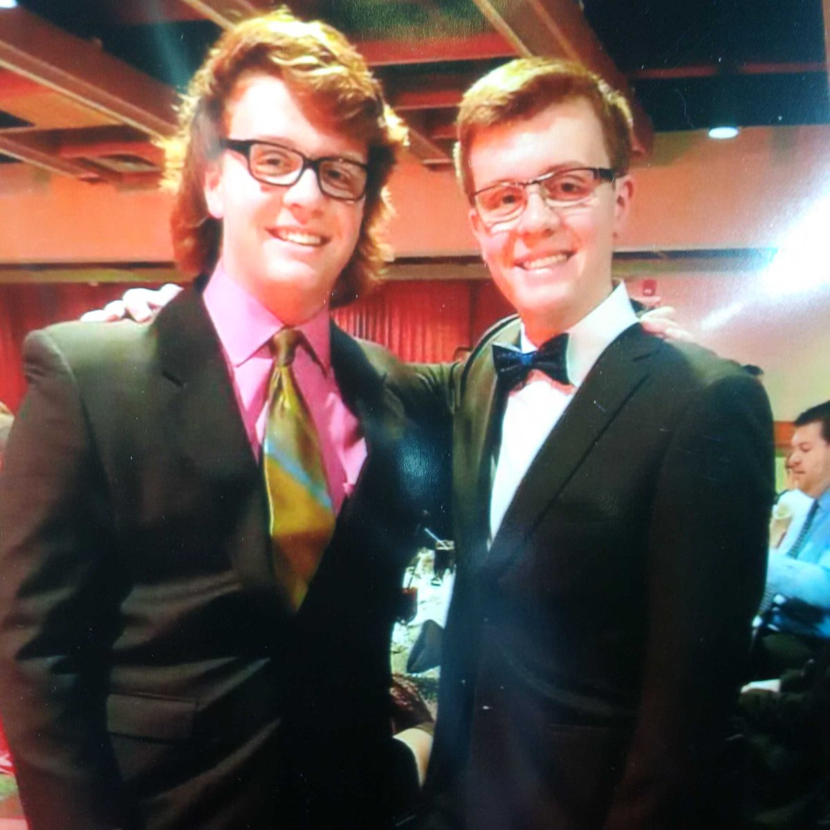 Memorial service for Evan and Jordan Caldwell, 17 yr-old twins, is today at 1 at Calgary's Centre Street Church.