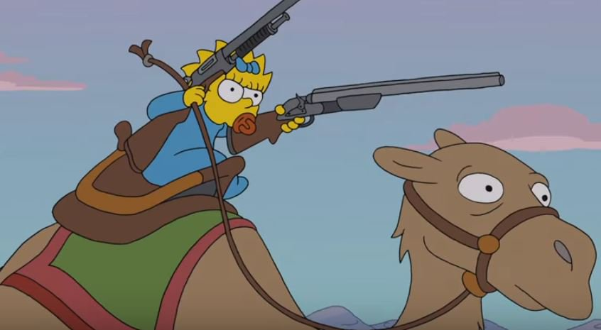 Maggie riding a camel double shotgunned is my new favorite picture ever @AlJean @TheSimpsons #thesimpsons https://t.co/rX9TRdxVo9