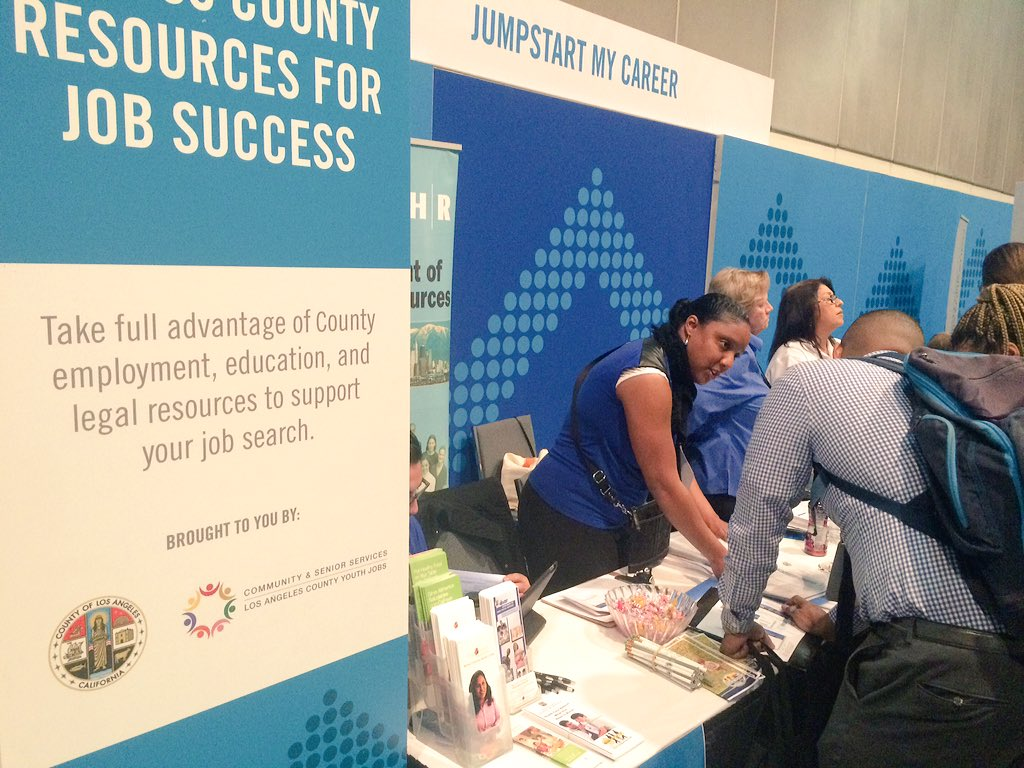Excited to represent #LACounty at the #100kOpportunities Fair! If you are here, come by our booth! #StartSomewhere