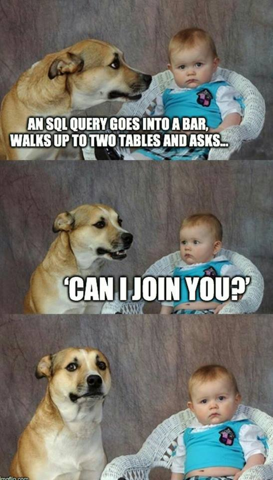 #GeekHumor An SQL Query goes into a bar... https://t.co/YK5uE8BuJ6