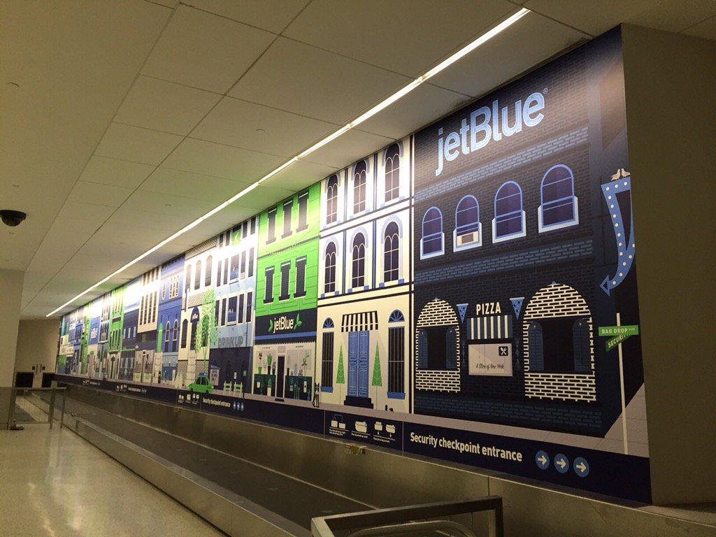 Happy Birthday, @JetBlue! A new #JetBlueJFK wall design to celebrate! https://t.co/6gd2XYUdiR