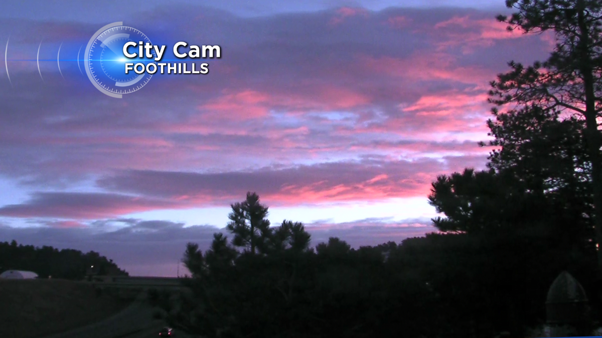Hot pink from our foothills camera this morning! We have an amazing sunrise to start the day!