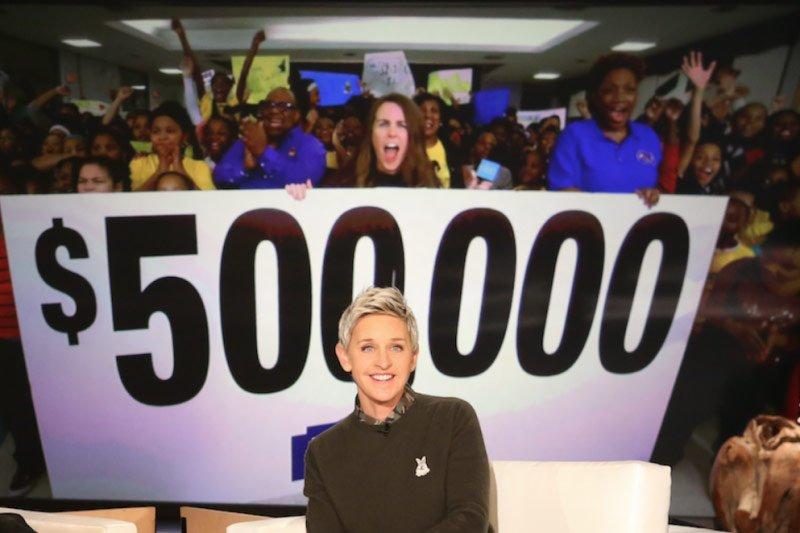 Ellen DeGeneres, Justin Bieber, Lowe's donate to Detroit's Spain Elementary-Middle School.