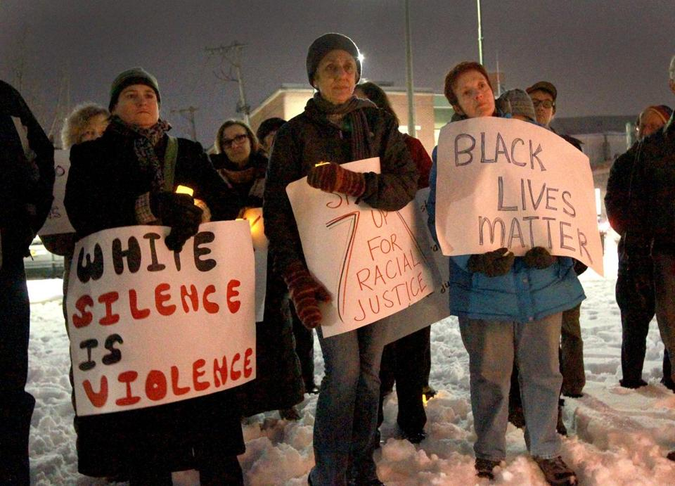 Black Lives Matter holds vigil in Jamaica Plain, the third consecutive monthly gathering