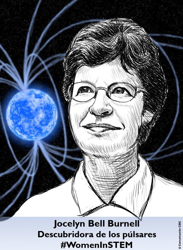 Jocelyn Bell, de 73 años. Descubrió los púlsares pero el Nobel fue para su supervisor. #Mujeresyciencia https://t.co/6Tkj6x8YaM