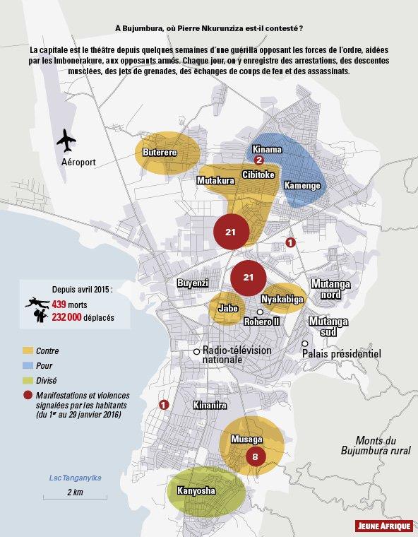 Archie Henry on Twitter JeuneAfriques map of Bujumbura Burundi