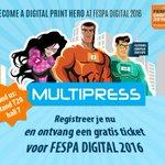 Image for the Tweet beginning: Graag naar FESPA DIGITAL? Krijg
