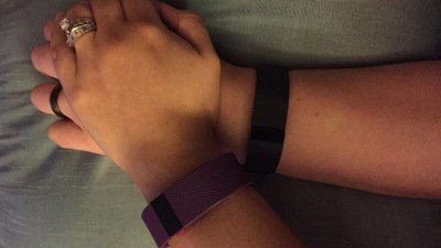 Husband notices wife's @fitbit acting strange; the reason was a huge surprise
