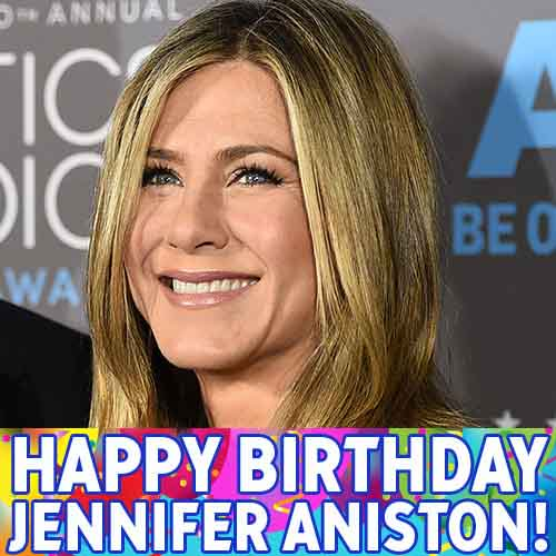 """One of our favorite """"Friends,"""" Jennifer Aniston, turns 47 today. Happy Birthday!"""