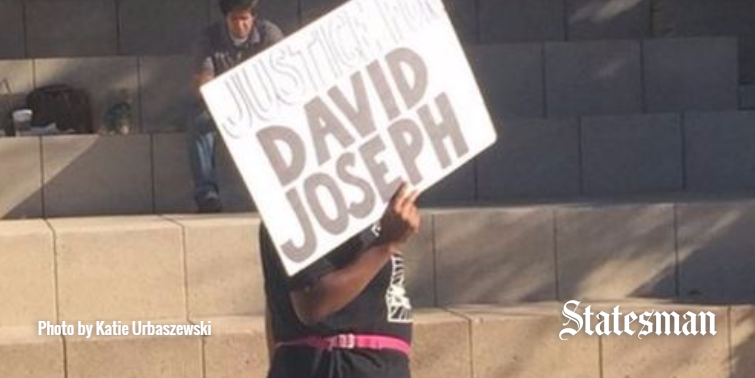 Protest at City Hall condemns Austin police shooting of David Joseph