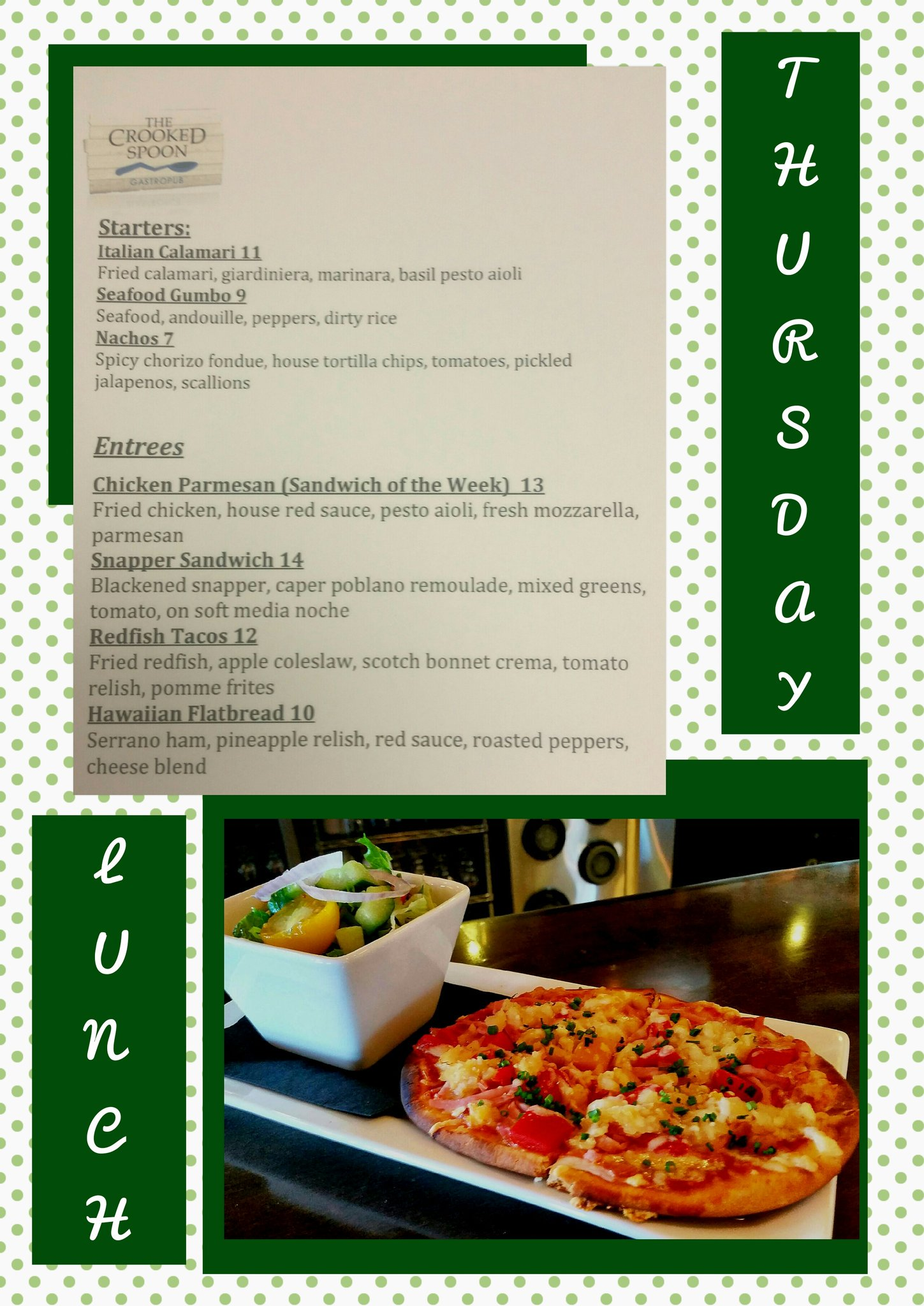 The Crooked Spoon On Twitter Thursday Lunch Specials