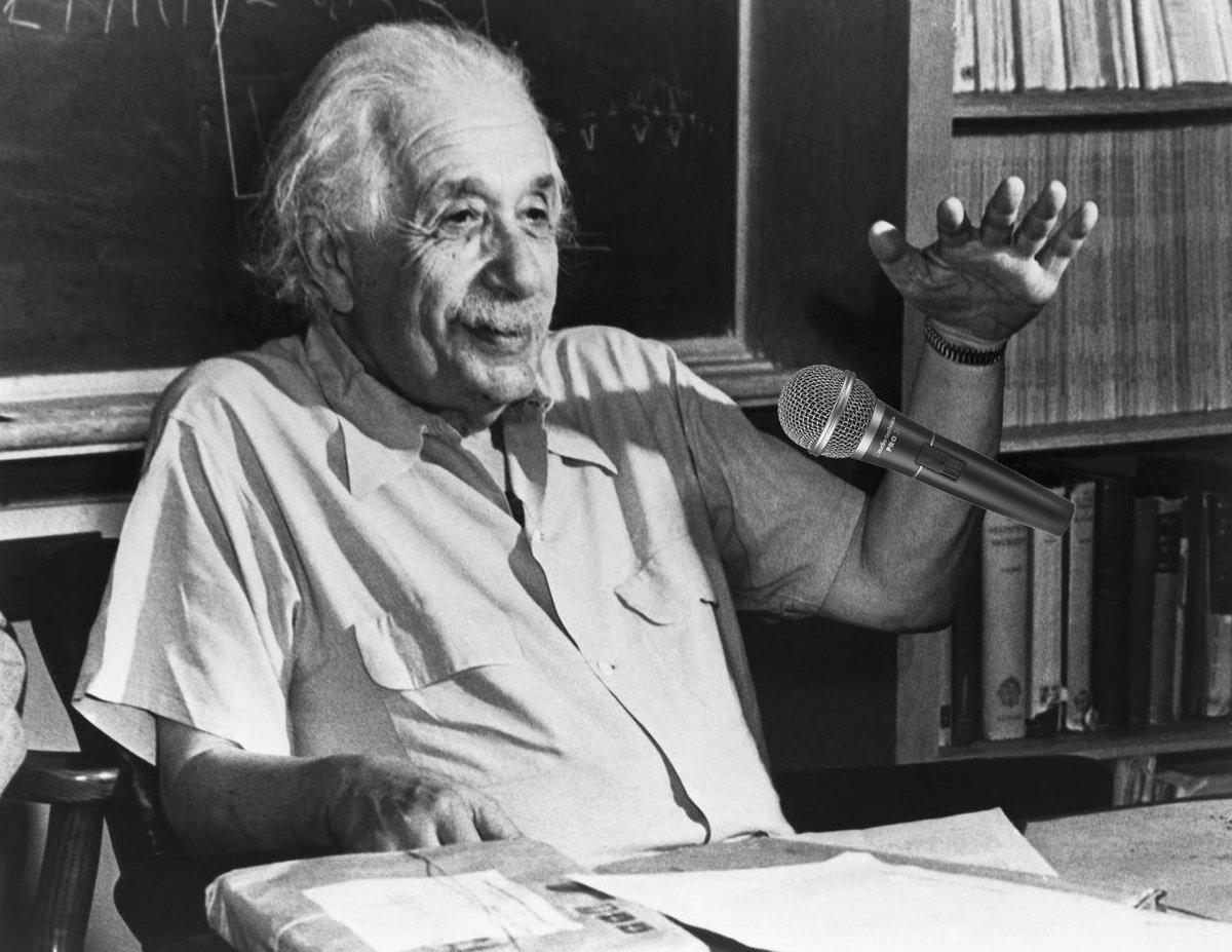 Albert Einstein On Twitter If Einstein Were Alive Hed Totally Do A Mic Drop After Todays Ligo Conference On Gravitationalwaves