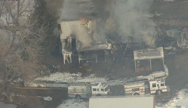 Smoke fills the sky from Douglas County house fire 9newsmornings