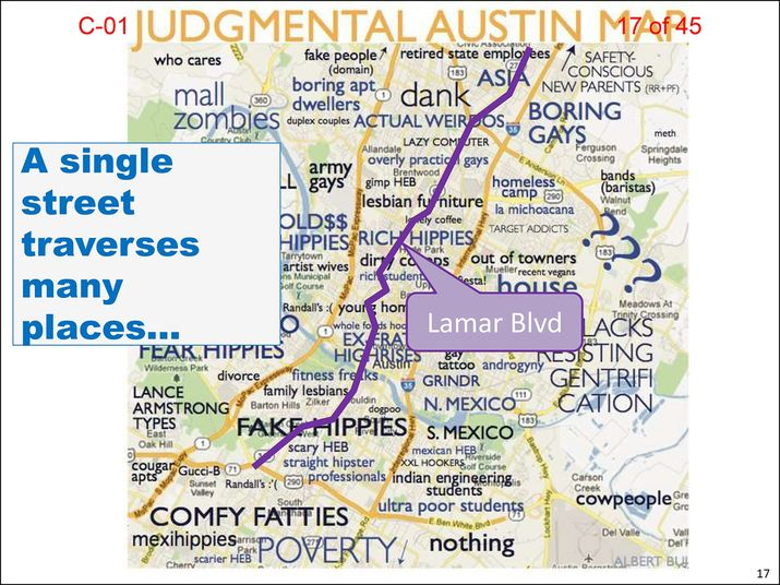 City staffer quits after controversial use of 'Judgmental Austin' map