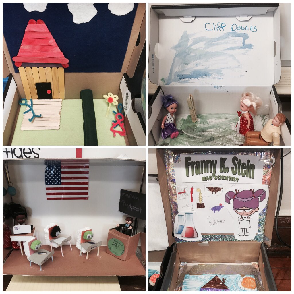 Dazzling dioramas to wrap up our novel studies and literature circles #rmbacon #mrssinonesclass https://t.co/87GERX1jwz