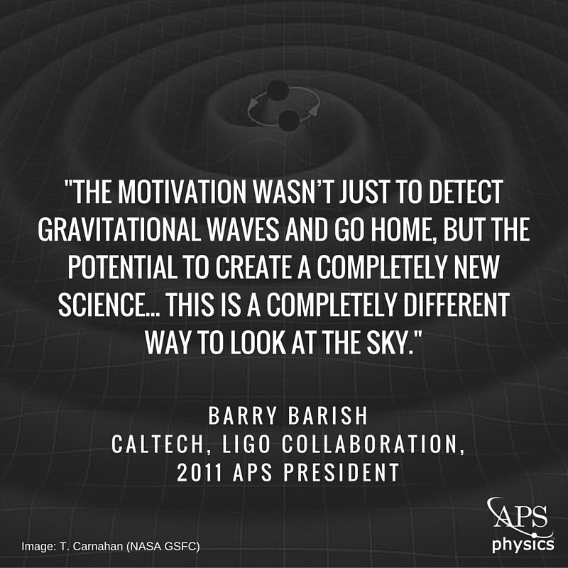 #GravitationalWaves will open up a new window to the universe. #LIGO https://t.co/HCaffM7kKx