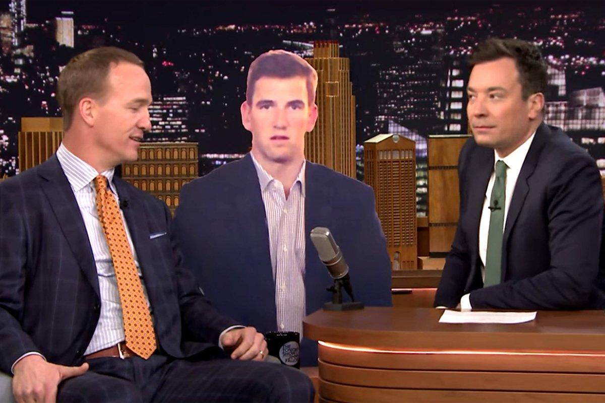 Peyton Manning hilariously mocked the Eli Manning face
