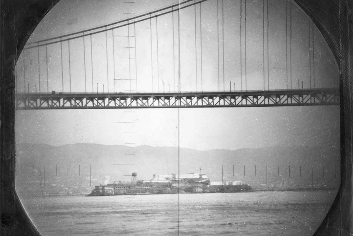 of San Francisco in 1951, shot from the periscope of a submarine. OurSF - w/ video!