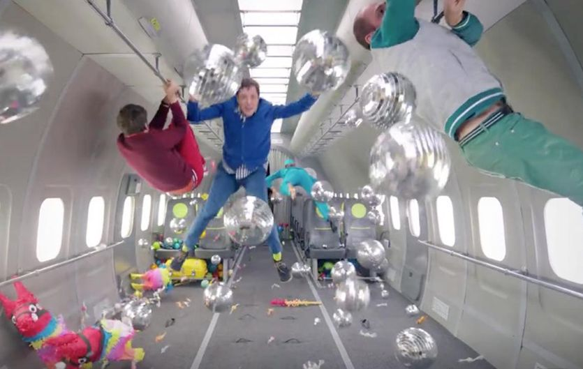Watch: Ok Go is at it again! They break the gravity barrier for their newest music video