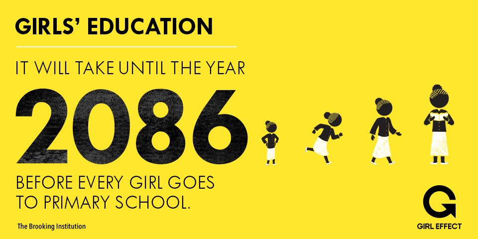 Come on, world. Girls shouldn't have to wait 70 years to be guaranteed an education. #LetGirlsLearn https://t.co/QZBChLaxnV