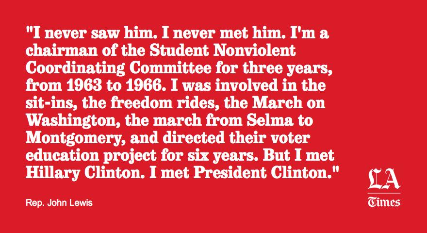 Endorsing Clinton, Rep. John Lewis says he