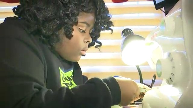 A fifth-grade fashion designer from Queens is making quite a name for herself on the runway