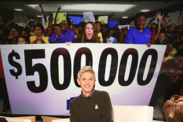 @TheEllenShow announces $500,000 @Lowes donation to Detroit's Spain Elementary.WATCH